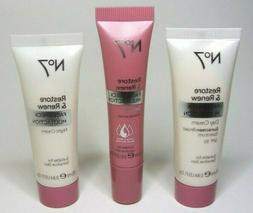 3 pc Set No7 Restore & Renew MULTI ACTION NIGHT DAY Cream +