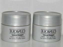 Lot 2 NEW Clinique Repairwear Sculpting Night Cream 15ml*2 =