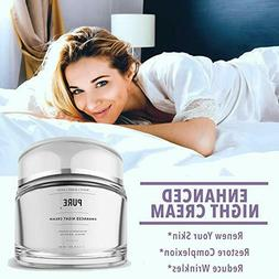 Anti-Aging Premium Night Cream Eye, Face & Neck Moisturizer