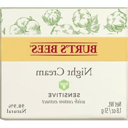 Burt's Bees Night Cream for Sensitive Skin with Cotton Extra