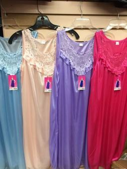 casual nights wear sleevless night gown