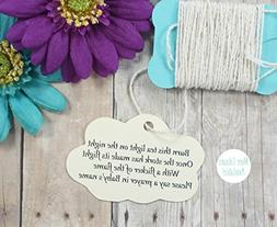 Cream Baby Shower Favor Tags - Neutral Cloud Shaped Favor Ta