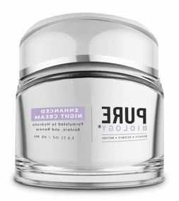 Pure Biology Enhanced Night Cream With Moisturizer For Face