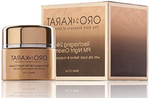 24K Retinol Night Cream Daily Recharging with Hyaluronic with 24k Made in the