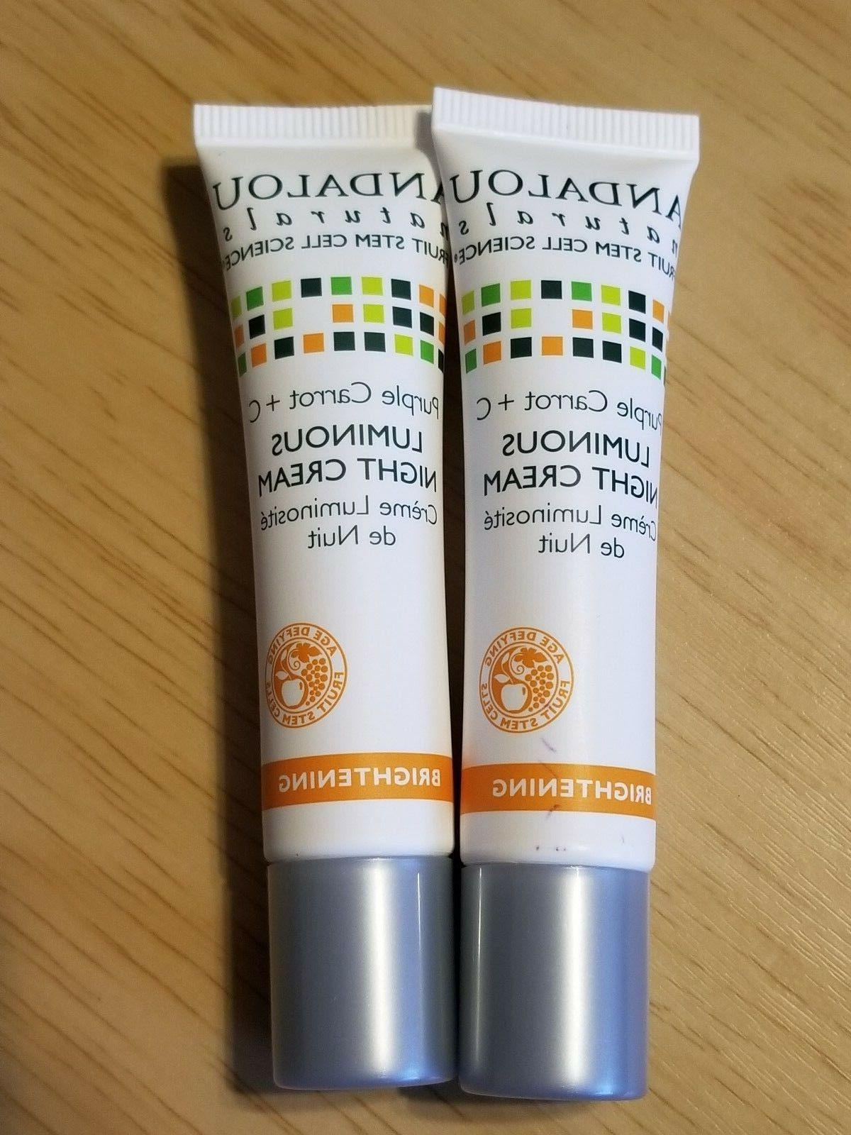 2x Andalou Naturals Brightening Purple Carrot + C Luminous N
