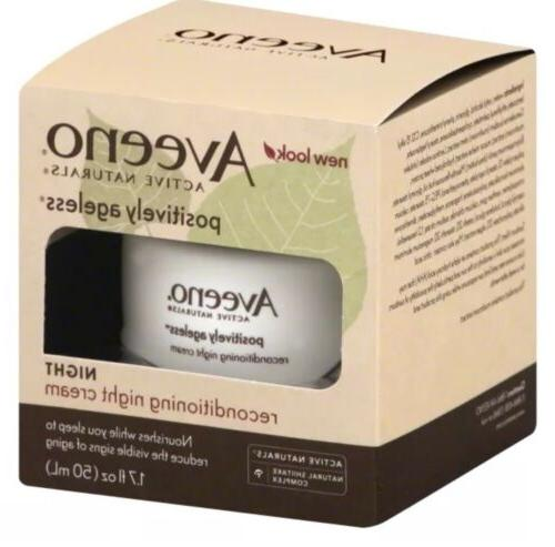 Aveeno Active Naturals Positively Ageless Night Cream 1.7oz