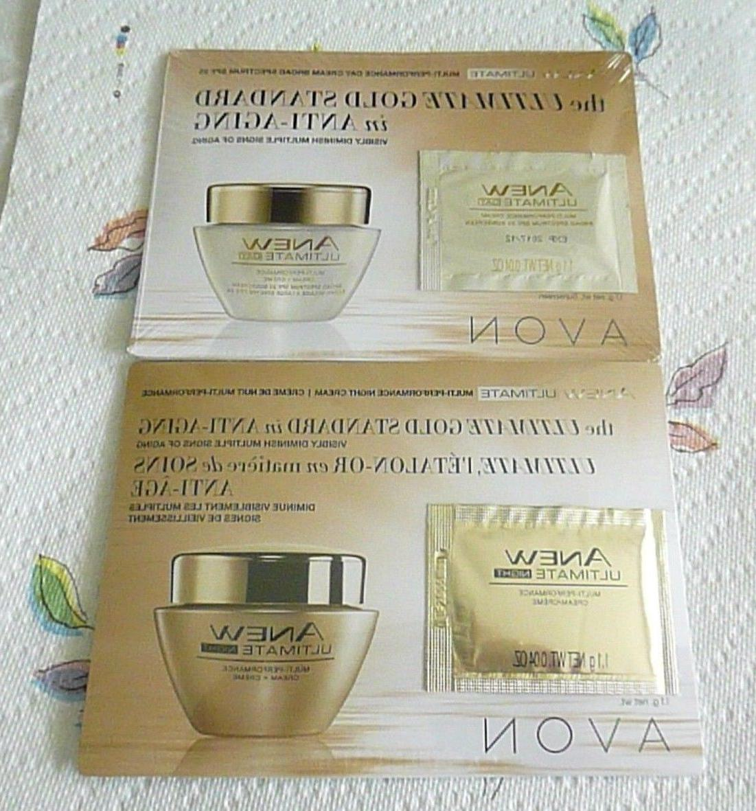 Avon ANEW ULTIMATE Day & Night Cream Samples  Sealed! Anti A