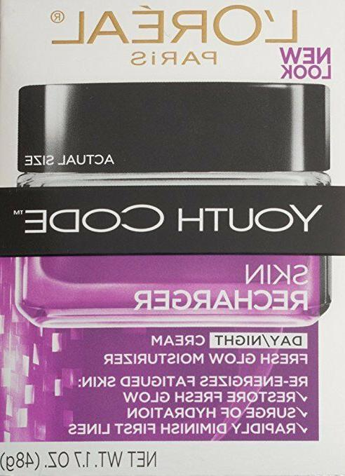 L'Oreal Paris Youth Code Skin Recharger Day/Night Cream, 1.7