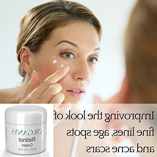 Organys Retinol Cream Hyaluronic & Vera. Aging Face & Moisturizer Wrinkles, Lines A Natural Best Anti Wrinkle Day