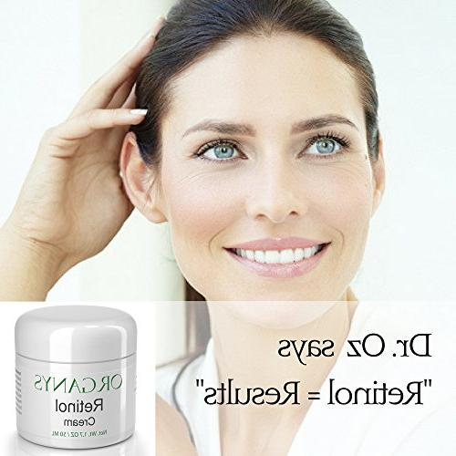 Organys Cream Hyaluronic Acid Vera. Anti & Wrinkles, Uneven Tone, Lines Acne A Natural Best Selling Anti Wrinkle Cream For Day