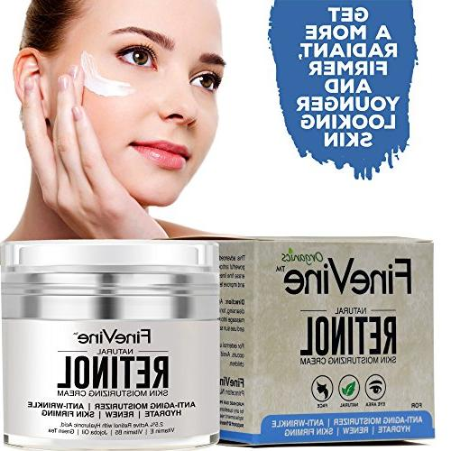 Retinol Cream Face and Eye - Made - Hyaluronic Acid, Vitamin - Best Day and Night Aging Wrinkles,