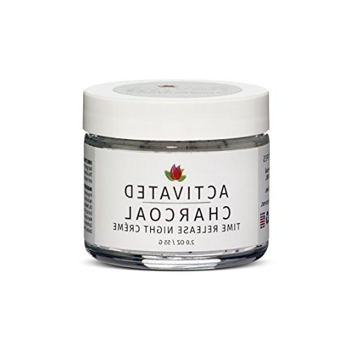Reviva Labs Activated Charcoal Time Release Night Cream 2oz