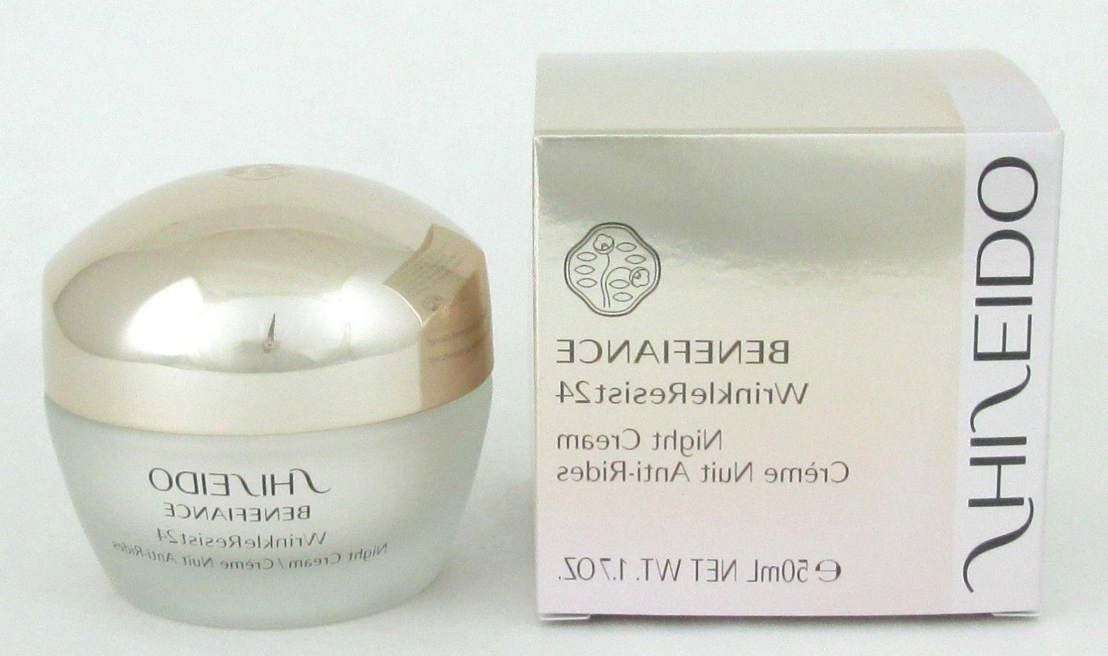 Shiseido Benefiance WrinkleResist24 Night Cream 1.7 oz New i
