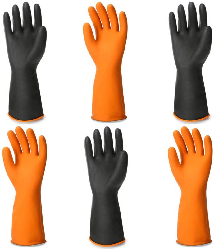 Chemical Gloves, 3 Pairs Enpoint 13.7 Inches Heavy Duty Late