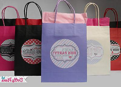 HEN NIGHT PARTY PERSONALISED PAPER PARTY FAVOUR GIFT BAG - E