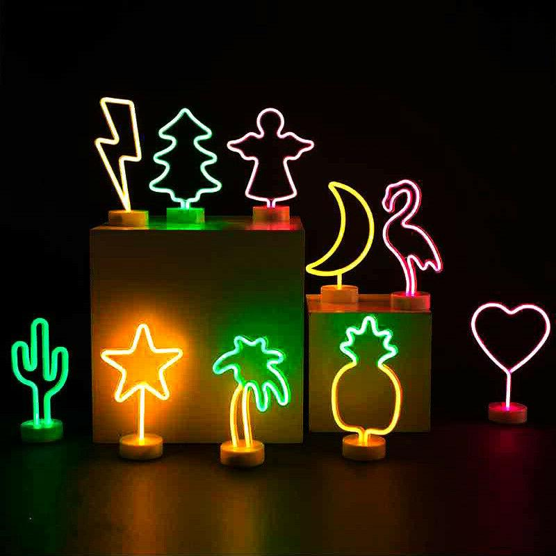 LED Battery USB Home Bedroom Signs With Base