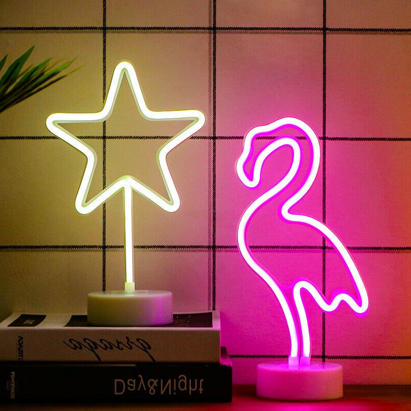 LED Night Battery USB Bedroom Neon With