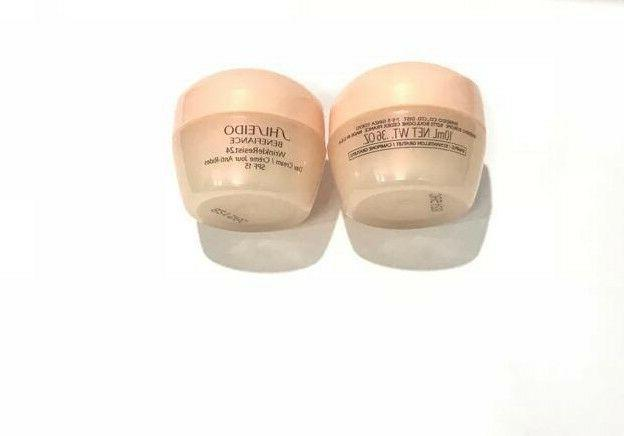 LOT OF TWO Benefiance Wrinkle Resist day 10ml 2018 No