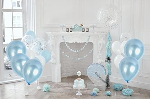 Pack Light Baby Blue Inch Latex Ribbons for Wedding Bridal Shower and Birthday