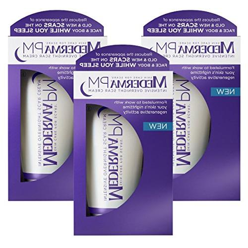 Mederma Intensive Overnight Scar Cream - Activity Once-Nightly Application Is Make Scars & Less - 1 ounce