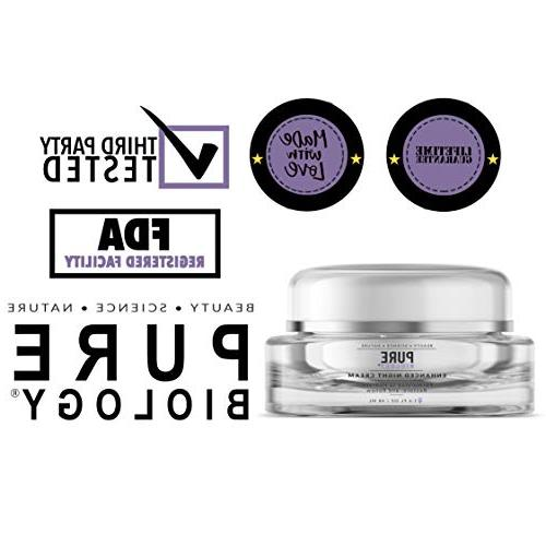 Premium Night Cream Moisturizer Aging Fine Face & Care for Men Women