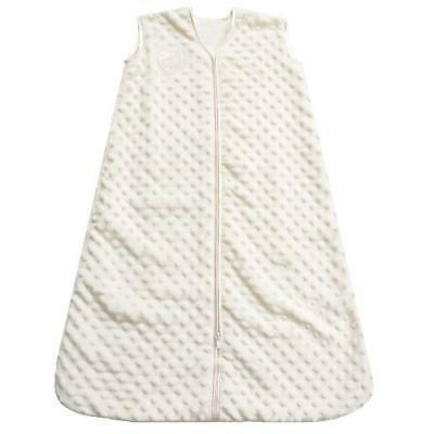 HALO SleepSack Wearable Blanket, Velboa, Cream Plush Dots, M