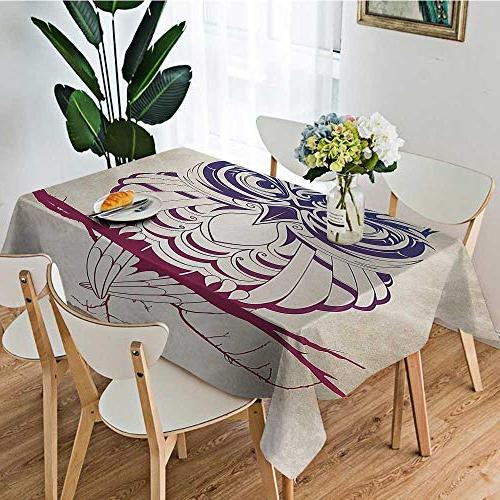 UHOO2018 Tablecloth Polyester Night Tree Birthday Party,52 x
