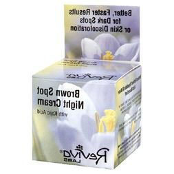 Reviva Labs Brown Spot Night Cream, with Kojic Acid, 1 Ounce