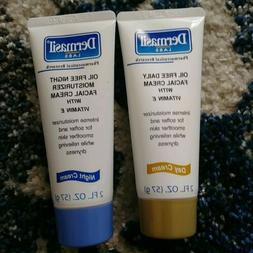 Lot of 2 Dermasil Daily Day Facial Cream & Moisturizing Nigh