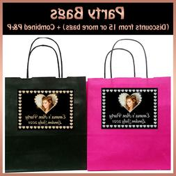 Personalised DIAMOND HEART Print Photo PARTY Gift BAGS Hen N