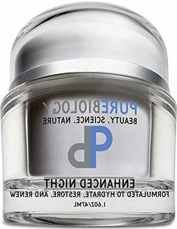 Pure Biology Night Cream Face Moisturizer with Retinol, Hyal