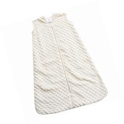 HALO SleepSack Plush Dot Velboa Wearable Blanket, Cream, Sma