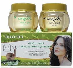 Snail Liquid Whitening Anti Freckle Cream day and night Set