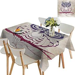 UHOO2018 Square/Rectangle Tablecloth Waterproof Polyester Ni