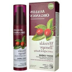 Avalon Organics Wrinkle Therapy with Coq10 & Rosehip - Night